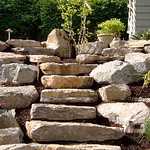 """Greenhaven Landscapes Inc., staircase, stone stair case, outdoor stairs, boulders <a style=""""margin-left:10px; font-size:0.8em;"""" href=""""http://www.flickr.com/photos/117326093@N05/12491872574/"""" target=""""_blank"""">@flickr</a>"""