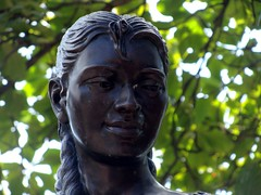 Bronze (knightbefore_99) Tags: sculpture west statue bronze mexico coast pacific native indian mexican malecon tropical maid zihuatanejo guerrero {vision}:{outdoor}=0814