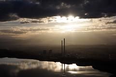 Atardecer desde Pea de Congosto (Tania Rabaal) Tags: espaa atardecer agua pantano nubes len bierzo congosto trmica brcena