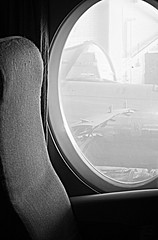 Window Seat (Cindy's Here) Tags: bw canada window plane canon winnipeg display seat manitoba windowseat aircanada vickersviscount takeaim westerncanadaaviationmuseum
