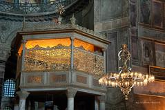 CMG_3515 (world's views) Tags: turkey istanbul mosque chandelier sacred hagiasophia 2013