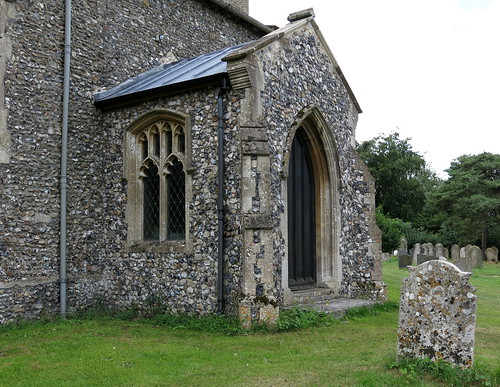 The north porch (15th C.), The Church of St Peter and St Paul, Fressingfield, Suffolk, England