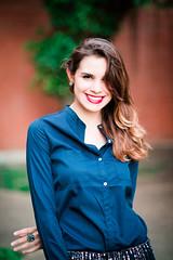 (Isai Alvarado) Tags: street blue red portrait urban woman cinema blur film girl smile fashion hair movie hall model nikon focus dof bokeh air bricks stock longhair 85mm cine lips cinematic d800 aysaa