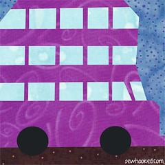 2014 knight bus (Jennifer Ofenstein (sewhooked.com)) Tags: harrypotter quiltblock knightbus harrypotterpaperpiecing fandominstitches