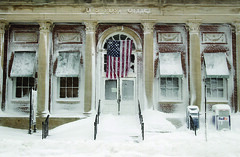 U.S. Post Office - Plymouth (Massachusetts Office of Travel & Tourism) Tags: winter snow ma massachusetts postoffice snowstorm plymouth americanflag usps blizzard plymouthcounty