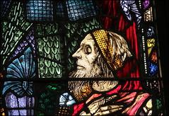 Beggar figure (catb -) Tags: ireland church window glass face cork stainedglass fa harryclarke