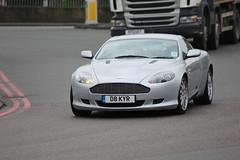 Aston Martin Db9 (kenjonbro) Tags: uk england london 2004 silver grey blackheath a2 astonmartin db9 se3 astonmartindb9 worldcars a102m kenjonbro canoneos5dmkiii d8kyr suninthesandsroundabout canonzoomlensef70300mm1456isusm