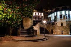 Esslingen - Nacht zum 1. Mai (MarcEhrmann) Tags: auto old city light car long exposure paint time stuttgart kirche stadt blte altstadt esslingen blten fachwerk langzeitbelichtung kastanien