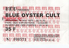 BLUE OYSTER CULT (Philippe Haumesser (+ 7000 000 view)) Tags: rock tickets concert live band ticket bands 1978 concerts groupe hardrock billet billets blueoystercult groupes concerticket concertickets