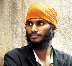 A man from India (chrisk8800) Tags: barcelona street city portrait urban india man face lumix photography spain eyes candid indian young streetphotography stranger catalonia panasonic portraiture g6 turban hindu immigrant