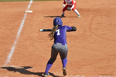 WCU Batter (AppStateJay) Tags: game college sc field sport out hit athletics south sigma upstate carolina catch pitch usc safe softball athlete 70300mm pitcher score throw bunt wcu nikond3200 westerncarolinauniversity radforduniversity sigma70300mmf456dgos