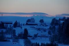 Mooi zijn de Alpen in het morgenlicht. (limburgs_heksje) Tags: black forest germany deutschland sneeuw schwarzwald duitsland zwartewoud
