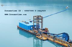 -  Dredging Platform (2day929) Tags: blue water boat platform taiwan reservoir shipping dredge dredging vessels  silt shihmendam