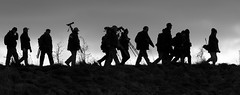 Twitchers on the move. (Delboy Studios) Tags: silhouette twitcher rspbrainhammarsh