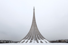 Russia - VDNKH rocket 2 (sadaiche (Peter Franc)) Tags: winter urban sculpture cold russia moscow minimal rocket vdnkh