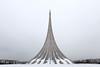 Russia - VDNKH rocket 2 (sadaiche (Peter Franc)) Tags: winter urban sculpture cold russia moscow minimal rocket vdnkh