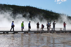 Grand Prismatic Steam (mike_jacobson1616) Tags: park nature pool wonder outdoors fire nationalpark spring scenery colorful natural scenic icon basin springs yellowstonenationalpark yellowstone features wyoming geyser visitors iconic geothermal eruption geysers grandprismaticspring grandprismatic midwaygeyserbasin viewfromthehill prismaticspring
