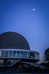 Planetario (NicoMaz) Tags: blue sunset sky moon argentina night atardecer buenosaires nikon view kitlens luna planetarium palermo starts planetario galileogalilei capitalfederal nikkor1855mm d3200