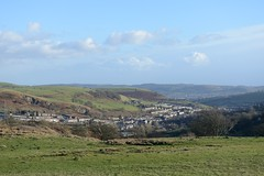 013-20150128_Mid Glamorgan-looking SE from track on N side of Cefn Eglwysilan to Senghenydd-Craig Llysfaen (L) and Cefn Onn (R) in distance (Nick Kaye) Tags: southwales wales landscape village glamorgan midglamorgan senghenydd