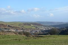 013-20150128_Mid Glamorgan-looking SE from track on N side of Cefn Eglwysilan to Senghenydd-Craig Llysfaen (L) and Cefn Onn (R) in distance (Nick Kaye) Tags: southwales wales landscape village glamorgan midglamorgan senghenydd
