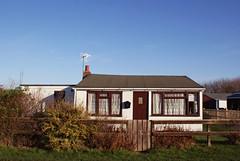 white (Burnt Out Chevrolet) Tags: door uk blue houses winter light chimney england sky sun white building g
