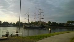 Die Thalassa auf dem Weg Richtung Ostsee (stier62) Tags: segelschiff nordostseekanal thalassa sehestedt