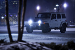 DSC_0157-2 (tehLEGOman) Tags: white snow sahara jeep charlotte northcarolina unlimited charlottenc wrangler jeeplife