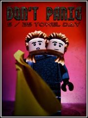 Beeblebrox (LegoKlyph) Tags: book lego towel scifi custom douglasadams zaphodbeeblebrox hitchhikersguide zaphod beeblebrox towelday