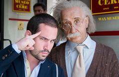 Think hard (Emilio A.S.) Tags: people rome celebrity smart museum education nikon funny joke think einstein wax lightroom thinkhard d3100 emilioas