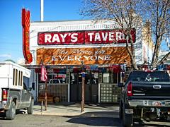 RAY'S TAVERN (akahawkeyefan) Tags: bar utah us flag front greenriver tavern davemeyer