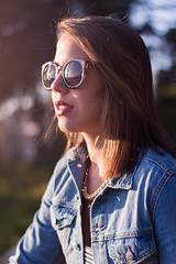 (nicolee_camacho) Tags: park parque girls sunset woman sunlight portugal girl sunglasses glasses la spring model women europa europe shoot photoshoot jean models jeans jacket denim patricia portuguese aveiro venezuelan camacho salette ontiveros nicolee oliveiradeazemeis