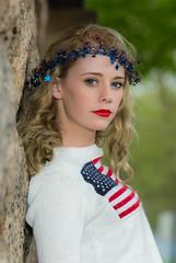 Jillian 5 (jlucierphoto) Tags: portrait people hot sexy girl patriotic blonde lipstick lovelyflickr
