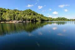 lake (abtabt) Tags: lake reflection water hill sarawak malaysia bau kuching d7001835g