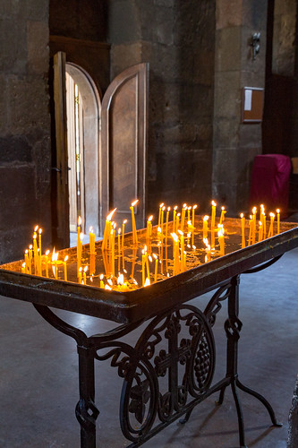 candles in the Armenian Church