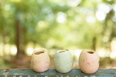 Broken Eggs (Maggggie) Tags: garden ceramic nikon pots eggs highkey 35mmf18 d7200
