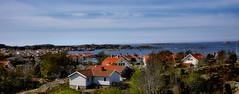 Panorama of Fiskebackskil at the Westcoast of Sweden (JRJ.) Tags: sea summer seascape landscape village sweden outdoor fjord bathing westcoast