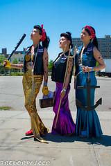 MermaidParade2016-6(NY) (bigbuddy1988) Tags: new city nyc blue friends portrait sky people woman 3 ny newyork art festival brooklyn wow asian coneyisland photography nikon pretty parade trio mermaid mermaidparade d610 nikond610