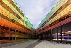 a colourful, well-lighted place [7] (yushimoto_02 [christian]) Tags: building netherlands architecture buildings ladefense almere unstudiooffice