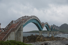 Eight Arches Bridge (jjthandcd) Tags: ocean travel bridge rock island arch taiwan adventure immortal sanxiantai eightarchesbridge 3immortals