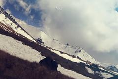 paisaje (betho itinerante) Tags: naturaleza color sol azul nieve sombra paisaje dia diagonal pasto cielo nubes contraste aire sombras rocas altura horizonte sima montaas lineas volcn