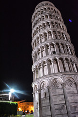 Leaning Tower of Pisa 3 (chriswalts) Tags: travel sunset italy streets tower night pisa leaning