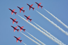 Red Arrows (NickS1966) Tags: nikon hawk airshow duxford bae tamron trainer t1 aerobatics 2016 rafredarrows d7100 150600mm