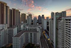Urban Sunset (Jansen Chua) Tags: sunset panorama singapore southeastasia cityscape bluehour hdb publichousing ura tallbuildings toapayoh housingdevelopmentboard urbanredevelopmentauthority jansenchuaphotography