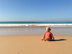 Boy on the Beach (Cameron Booth) Tags: ocean boy beach hat sand surf waves au manly sydney australia pacificocean nsw newsouthwales manlybeach
