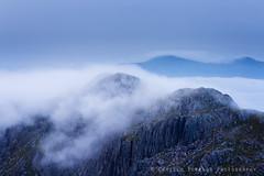 Cascade (Camillo Berenos) Tags: greatbritain mountain mountains clouds dawn scotland moody ridge inversion munro scottishhighlands