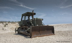 Beach Bulldozer (scottnj) Tags: ocean sky beach clouds newjersey sand 26 dune nj heavyequipment sanddune bulldozer olivegreen seasideheights armycorpsofengineers 365project 153366 scottnj cy365 scottodonnellphotography reddit365 redditphotoproject