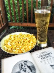 A memorable book and  a forgettable brew... (tobyhume) Tags: beer garden j hilarious funny peroni humor bad first s humour master popcorn embarrassment edition miserable brew wit masterpiece witty abominable masterful dreck frightful ghastly wretched forgettable unforgivable perelman undrinkable abysmal dawnginsbergh