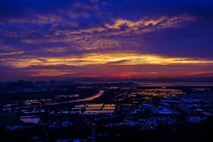 It's magic! Magic after the sunset! (iamWing_) Tags: fuji fujifilm hk hongkong kaikungleng velvia xpro2 xf1855 blue bluehour bluemoment countryside landscape landscapephotography magic magichour magicmoment nature outdoors outskirts sunset newterritories