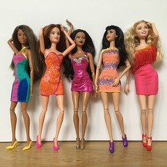Disco Love.... (Gavapillar) Tags: nikki barbie drew lea desiree trichelle barbiefashionfever barbiefashionista barbiestardoll