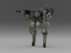 """Assault mech HAM-15 """"Executor"""" (KANICHUGA) Tags: lego military mecha cyberpunk mech moc"""